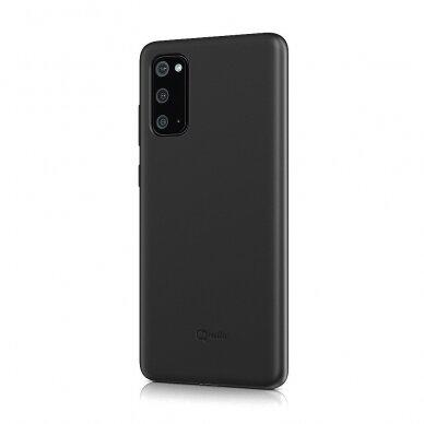 Dėklas BeHello Liquid Silicone Samsung G981 S20 juodas UCS003