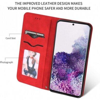 Dėklas Business Style Samsung G981 S20/S11e raudonas UCS003 3