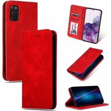 Dėklas Business Style Samsung G981 S20/S11e raudonas UCS003 4
