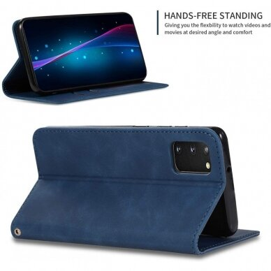 Dėklas Business Style Samsung G981 S20/S11e tamsiai mėlynas UCS003 2