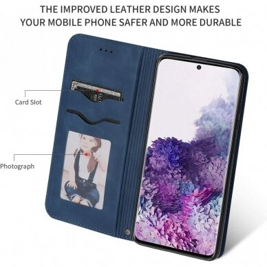 Dėklas Business Style Samsung G981 S20/S11e tamsiai mėlynas UCS003 3