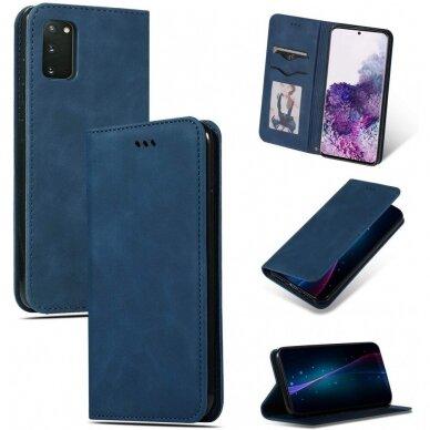 Dėklas Business Style Samsung G981 S20/S11e tamsiai mėlynas UCS003 4