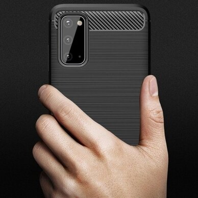 Dėklas Carbon Lux Samsung G981 S20/S11e juodas UCS003 2