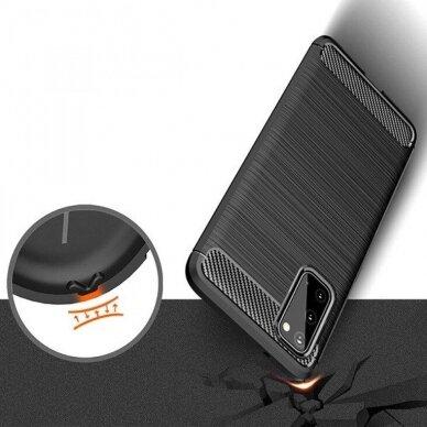 Dėklas Carbon Lux Samsung G981 S20/S11e juodas UCS003 3