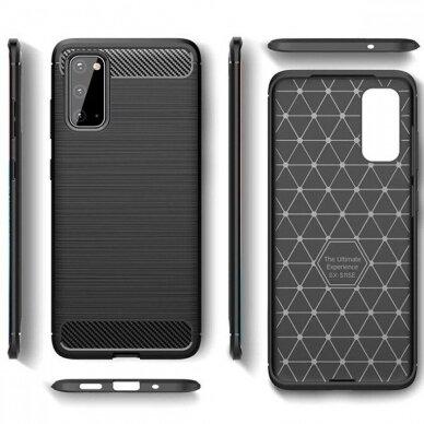 Dėklas Carbon Lux Samsung G981 S20/S11e juodas UCS003 5