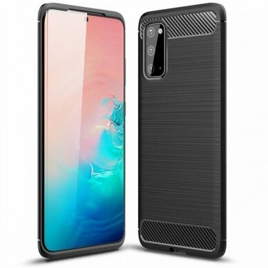 Dėklas Carbon Lux Samsung G981 S20/S11e juodas UCS003