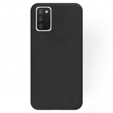 Dėklas Rubber TPU Samsung A03s EU juodas 2