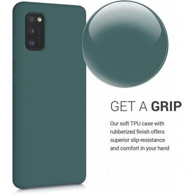 Dėklas Rubber TPU Samsung A03s EU tamsiai žalias 3