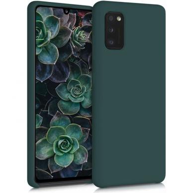 Dėklas Rubber TPU Samsung A03s EU tamsiai žalias