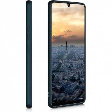 Dėklas Rubber TPU Samsung A03s EU tamsiai žalias 2