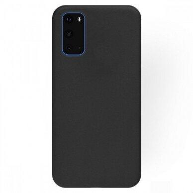 Dėklas Rubber TPU Samsung G981 S20/S11e juodas UCS003