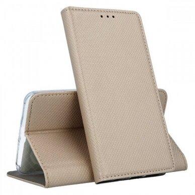 Dėklas Smart Magnet Samsung A515 A51 auksinis UCS025 4