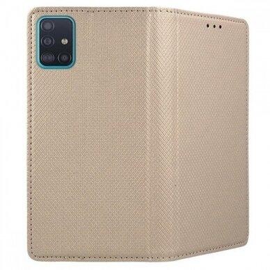 Dėklas Smart Magnet Samsung A515 A51 auksinis UCS025 2