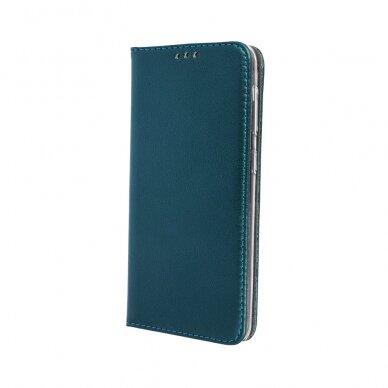 Dėklas Smart Magnetic Samsung M51 tamsiai žalias