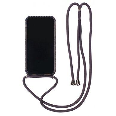 Dėklas Strap Case Samsung A515 A51 juodas