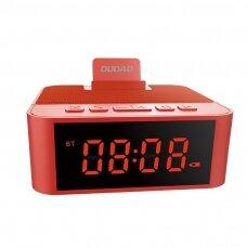 Dudao AUX Multifunctional bluetooth Speaker Alarm Clock Phone Holder micro SD card reader FM radio raudonas (Y5 raudonas) (ctz220)