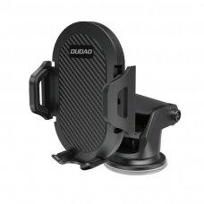 Dudao Gravity Car Mount Dashboard Windshield Phone Bracket Holder juodas (F2S juodas)