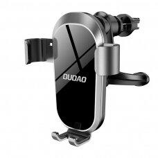 Gravitacinis laikiklis Dudao Gravity Phone Holder skirta Air Outlet juodas