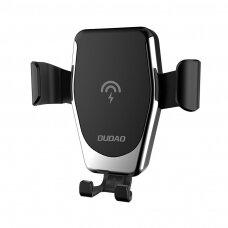 Dudao Gravity Wireless Charger 10W Car Mount Phone Bracket Air Vent Holder Qi Charger juodas (F3Plus juodas) (ctz220)