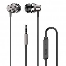 Dudao in-ear earphone 3,5 mm mini jack headset with remote control silver (X10 Pro silver)