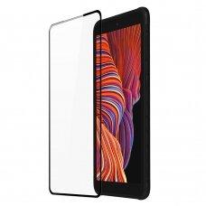 Ekrano Apsauginis Stiklas Su Rėmeliu, tinka su dėklu Dux Ducis 10D Tempered Glass Tough Screen Protector Samsung Galaxy XCover Pro Juodas