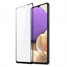 Dux Ducis 9D Tempered Glass Tough Screen Protector Full Coveraged stiklas Samsung Galaxy A32 5G Juodais kraštais (case friendly)