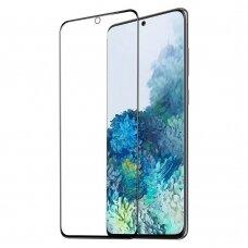 Dux Ducis 9D Grūdintas Ekrano Apsauginis Stiklas Su Rėmeliu Samsung Galaxy S21 5G Juodas (tinka su dėklu)
