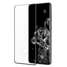 Dux Ducis 9D Grūdintas Ekrano Apsauginis Stiklas Su Rėmeliu Samsung Galaxy S21 Ultra 5G Juodas (tinka su dėklu)