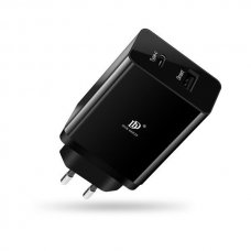 DUX DUCIS C40 TRAVEL WALL CHARGER ADAPTER USB TYPE C PD 3.0 BLACK