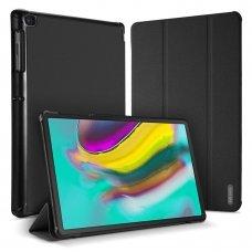 """Atverčiamas Planšetės Dėklas Pu Oda """"Dux Ducis Domo"""" Su Išmanaus Užmigimo Funkcija Samsung Galaxy Tab S5E T720 T725 Juodas"""