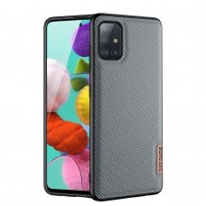 Dėklas Dux Ducis Fino case covered with nylon material for Samsung Galaxy A51 mėlynas