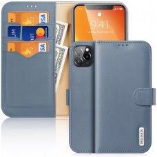 Atverčiamas dėklas Dux Ducis Hivo odinis iPhone 11 Pro Mėlynas