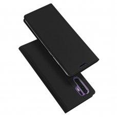 """Atverčiamas Pu Odos Dėklas Švelniu Paviršiumi """"Dux Ducis Skin Pro"""" Huawei P30 Pro Juodas"""