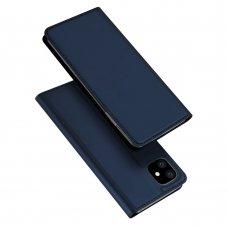 """Atverčiamas Pu Odos Dėklas Švelniu Paviršiumi """"Dux Ducis Skin Pro"""" Iphone 11 Mėlynas"""
