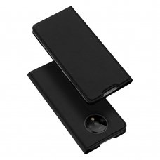 """Atverčiamas dėklas """"DUX DUCIS Skin Pro"""" PU oda OnePlus 7T juodas (flq40)"""