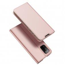 Atverčiamas dėklas DUX DUCIS Skin Pro Samsung Galaxy A02s Rožinis