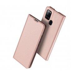 DUX DUCIS Skin Pro atverčiamas dėklas Samsung Galaxy A21S rožinis UCS027