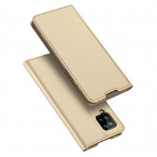 Dux Ducis Skin Pro Bookcase Type Case skirta Samsung Galaxy A42 5G Golden