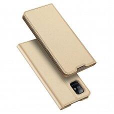 DUX DUCIS Skin Pro atverčiamas dėklas Samsung Galaxy A51 5G auksinis UCS025