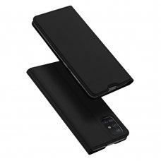 """Atverčiamas dėklas """"DUX DUCIS Skin Pro"""" PU oda Samsung Galaxy A51 juodas (lop20)"""