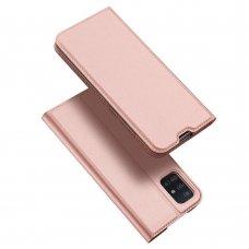 """Atverčiamas dėklas """"DUX DUCIS Skin Pro"""" PU oda Samsung Galaxy A51 rožinis (lop20)"""