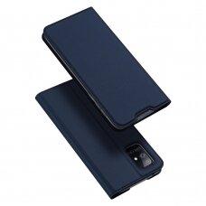 DUX DUCIS Skin Pro atverčiamas dėklas Samsung Galaxy A71 5G tamsiai mėlynas UCS024
