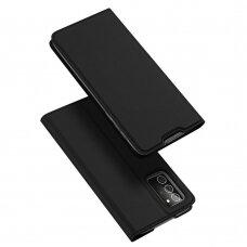 Eko Odos Atverčiamas Dėklas Dux Ducis Skin Pro Samsung Galaxy Note 20 Juodas