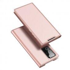 Eko Odos Atverčiamas Dėklas Dux Ducis Skin Pro Samsung Galaxy Note 20 Rožinis