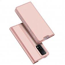 Atverčiamas dėklas Dux Ducis Skin Pro Bookcase Type Case For Xiaomi Mi 10T Pro / Mi 10T Rožinis