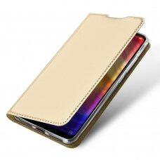 Dux Ducis Skin Pro Atverčiamas Dėklas Xiaomi Redmi 10X 4G / Xiaomi Redmi Note 9 Auksinis