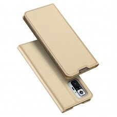 Atverčiamas dėklas DUX DUCIS Skin Pro  Xiaomi Redmi Note 10 Pro Auksinis