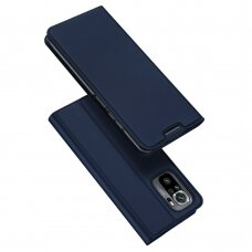 Atverčiamas dėklas DUX DUCIS Skin Pro  Xiaomi Redmi Note 10 / Redmi Note 10S tamsiai mėlynas