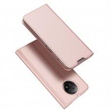 Atverčiamas dėklas DUX DUCIS Skin Pro Xiaomi Redmi Note 9T 5G Rožinis