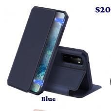 DUX DUCIS Skin X atverčiamas dėklas Samsung Galaxy S20 mėlynas UCS003